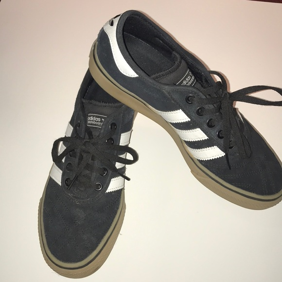 buy good low cost new arrivals adidas Shoes | Black White Striped Brown Sole | Poshmark